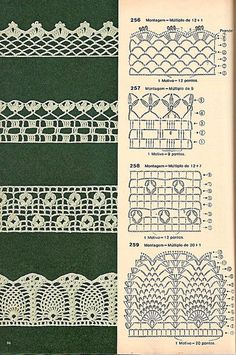 Bicos de crochê by LeiaCook, via Flickr