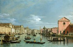 """Bellotto Bernardo - Venice Grand Canal Facing Santa Croce Lo N G  (from <a href=""""http://www.oldpainters.org/picture.php?/45943/category/15206""""></a>)"""