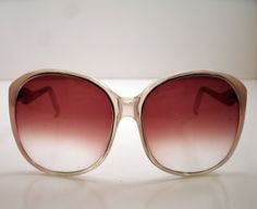 d5ff32342a Vintage 1980s Foster Grant Oversized Pink and by melissasantiques