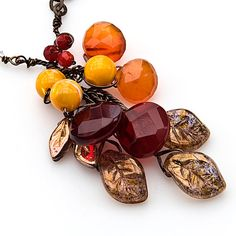 Hey, I found this really awesome Etsy listing at https://www.etsy.com/listing/105833652/fall-necklace-nature-jewelry-gemstone
