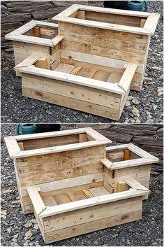 creative wood pallet planter