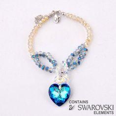 Heart Bracelet Sapphire