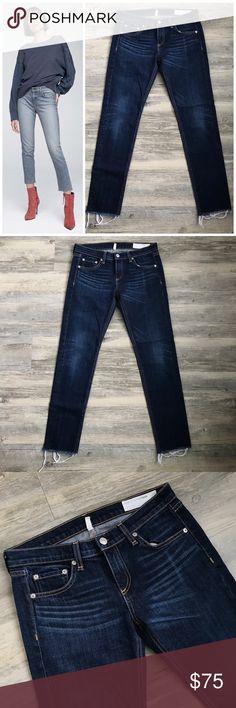 "🆕Rag & Bone ""The Dre"" Slim Boyfriend With Raw Hem Rag & Bone The Dre With Raw Hem Gorgeous pair of jeans!  Look brand new! Size is a 25  Raw hem  In perfect condition  Model photo is a similar style rag & bone Jeans Boyfriend"