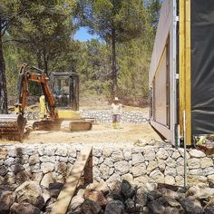 Ca l'Amo - Marià Castelló · Architecture Wood Cladding Exterior, Dry Stone, Mountain Modern, Wood Laminate, Countryside, Patio, Landscape, Architecture, Outdoor Decor