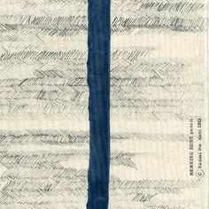 Nani Iro HERRING BONE pencil Japanese Fabric - rock - natural, charcoal, dark blue - canvas