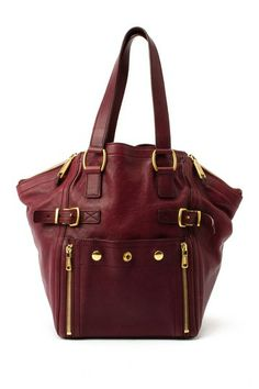 Vintage Yves Saint Laurent Leather Downtown Tote Bag by LXR on @HauteLook