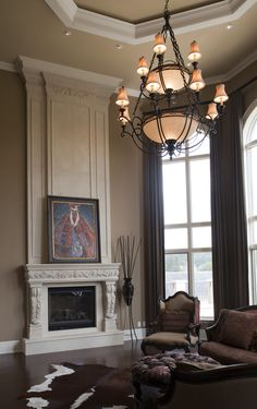 1136.524 Stone Cast Mantel with Regal Overmantel