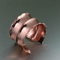Fold Formed #Copper Anticlastic #Cuff. Too bold not to be beautiful!   http://www.johnsbrana.com/fold-formed-copper-anticlastic-cuff.html  $145.00