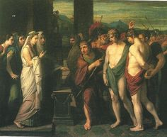Pylades and Orestes Brought as Victims Before Iphigenia by Benjamin West 1766 oil on canvas Tate Britain Art Of Manliness, Renaissance, National Gallery, Greek And Roman Mythology, Classical Mythology, Tate Gallery, Artist Gallery, Art Terms, Romantic Period