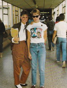 92edd98d514 In the hall at Guilford High School 1983. 1980s Kids Fashion