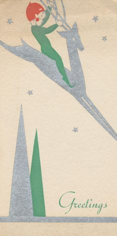 vintage everyday: 19 Simply-Designed Christmas Postcards Just Make Them More Awesome