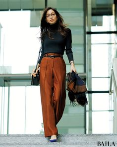 Office Outfits Women, Office Fashion Women, Work Fashion, Star Fashion, Fashion Pants, Fashion Outfits, Japan Fashion Casual, Office Look Women, Japan Outfit Winter