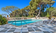pool @ Sea view Belle Epoque style mansion for sale in Cap D'ail, Côte d'Azur, France.