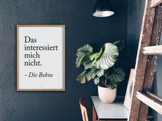 Kunstdruck mit lustigem Spruch fürs Wonhzimmer / poster with funny quote, living room made by typealive via DaWanda.com
