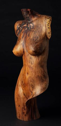 **Wood Sculpture Figurative, Artemis, by Chad Awalt-Fine Art and Sculpture in wood