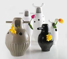 JAMIE HAYON SHOWTIME VASES - 'The concepts behind these pieces explore the contrast between what is external and internal. A combination between organic and classic  forms.'  - We just love them! // MELBOURNESTYLE