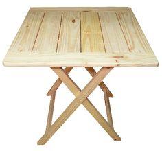 Mesa Plegable De Madera Eucaliptus. Ideal Bar Patio O Jardin - $ 520,00