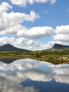 The mountains of Rondane, Norway have a special scape; one of the most popular trekking areas for families