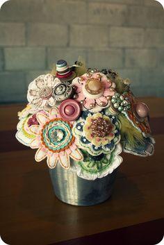 Felt wedding bouquet by Megan Hunt