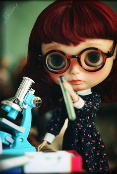 Blythe scientist by meetoxy, via Flickr