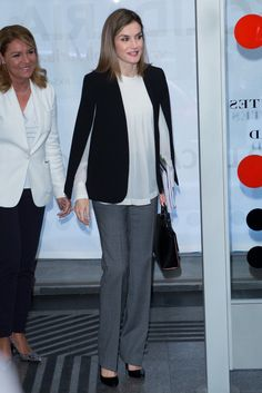 Queen Letizia Just Schooled Everyone on How to Make Work Pants Impossibly Chic