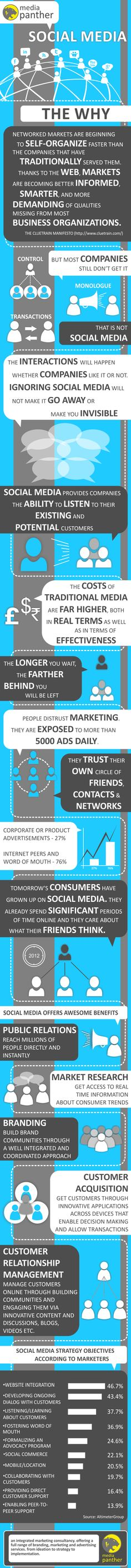 Social media - The why - Advertising, Branding, Marketing - Media Panther Blog #infographic (pinned by @lovile)