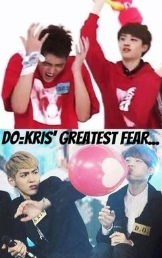 Bahahahah this is sooo funny! XD I love Kris' face in the second picture.