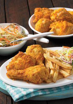 Air Fryer Buttermilk Fried Chicken From 175 Best Air Fryer Recipes by Camilla V. Saulsbury review #airfryer