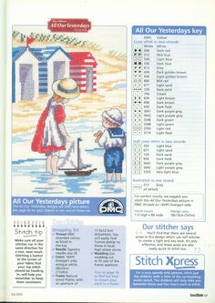 A Summer Time To Remember (All Our Yesterdays) From Cross Stitcher N°110 July 2001 4 of 4