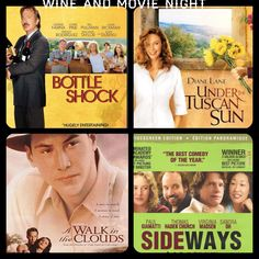 Best #wine related #movies for wine lovers! - And I have seen all four of these movies...multiple times.