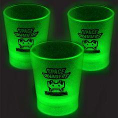 Space Invaders Glow-in-the-Dark Shot Glasses