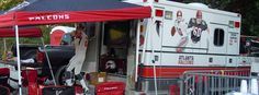 Falcons BirdWatchers Fanbulance: The ambulance works out fabulously as a tailgating vehicle thanks to the numerous electrical outlets. The slight downside is the inevitable visits from drunken and grill-burned tailgaters who think the fanbulance can give them a lift to the hospital.