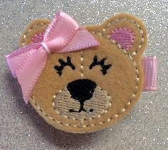 A personal favorite from my Etsy shop https://www.etsy.com/listing/262893626/sweet-teddy-bear-hair-clipbaby