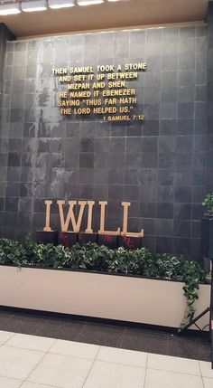 "Atrium in Second Ebenezer Church with 2016 focus ""I Will"""