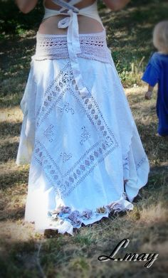 order your custom Lmay hippie shabby chic wedding gown by ledamay, $170.00