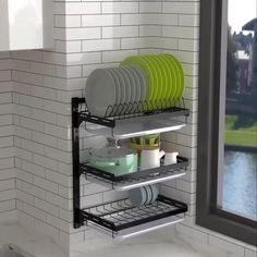Kitchen Shelf Organiser:For Link Press Visit Kitchen Room Design, Kitchen Cabinet Design, Modern Kitchen Design, Home Decor Kitchen, Interior Design Kitchen, Diy Kitchen Storage, Small Bathroom Storage, Kitchen Shelves, Kitchen Organization