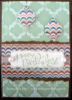 Geburtstagskarte mit Stampin Up und Papier Core'dination und Venezianische Träume, Sassy Salutations
