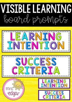Learning Intention and Success Criteria Cards Procedural Writing, Paragraph Writing, Narrative Writing, Writing Rubrics, Opinion Writing, Letter Writing, Learning Targets, Learning Goals, Learning Objectives