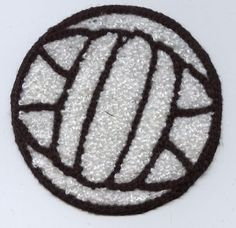 Iron On Embroidered Applique Patch Chenille Large Volleyball Volley Ball Sports