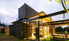 """Moreno Flores and Sebastian Calero's """"RDP House"""" is an industrial-chic shipping…"""