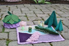 Quilted Fairy Play Mat by SongbirdandHollow on Etsy