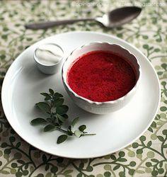 barszcz czerwony White Plate: Zupy
