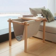 Fold Away Magazine Holder and Coffee Table                                                                                                                                                                                 More