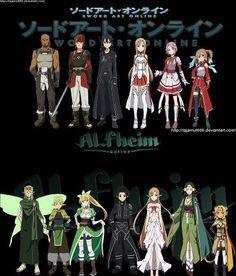 Alfeim and Sword Art Online Manga Anime, Sao Anime, Sword Art Online Asuna, Arte Online, Online Art, I Love Anime, Awesome Anime, Tous Les Anime, Fairy Tail