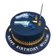 Gun and Target Cake Pinterest Target