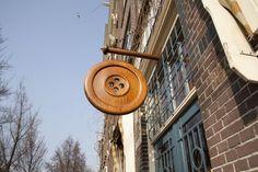Knpenwinkel, 389 Herengracht, Amsterdam- button store sign