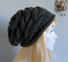 Women Knit Hat Womens Hat Slouchy Hat Slouchy Women Hat Slouch