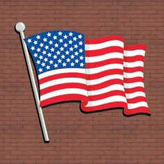 """Waving American Flag DIY Woodcraft Pattern #2360 - Show your colors. Hang it proudly on your house, barn or on any wall. 36""""T x 40""""W. Pattern by Sherwood Creations #woodworking #woodcrafts #pattern #yardart #craft #patriotic #flag"""