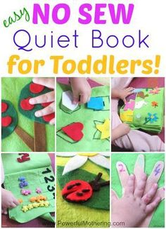 How to Make a Quiet Book - Includes 11 Inside pages - All NO Sew for toddlers from PowerfulMothering.com