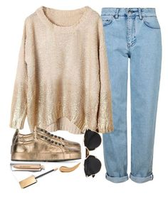 """""""Gold"""" by seventeene ❤ liked on Polyvore featuring Topshop, Christian Dior, Jil Sander and Burberry"""